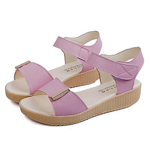 Longra Donne tre Colori sandali Rosa