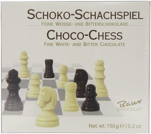 Baur - Jeu d'échecs en chocolat blanc et noir