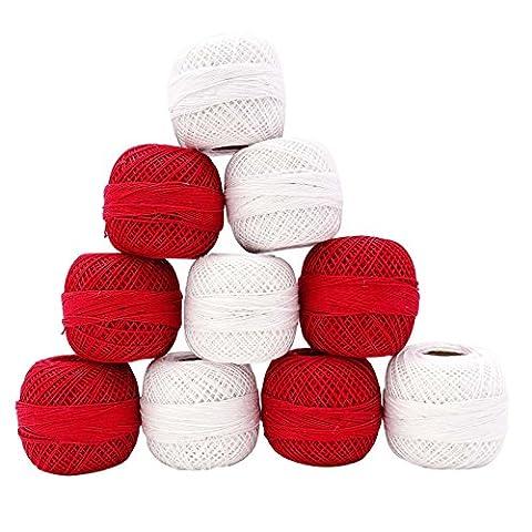Coton crochet écheveaux de la discussion ensemble de 10 pièces