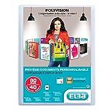Elba - 100206232 - Polyvision Protège-Documents Personnalisable 80 Vues Polypropylène Translucide A4 Incolore
