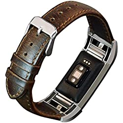 For Fitbit Charge 2 Replacement Band ,Fulltime(TM) Leather Buckle Wrist Watch Band Strap Horses Belt for Fitbit Charge 2