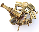 Neovivid Solid Brass Sextant Nautical Maritime Astrolabe Marine