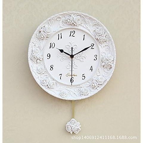 FEI&S semplice creative orologio moderno ultra-luminoso tranquillo oscillare grafici per parete sala da disegno orologio da parete in vetro di orologio di metallo #25 - Tropical Luce Di Notte