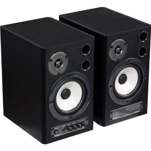 Behringer MS40 Set coppia casse monitor attive da studio con commutatore D/A (2 x 20 Watt, Bass Reflex, RCA)