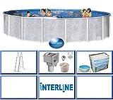 Interline 50001661 Diana Graystone Auf- und Erdeinbau Stahlwandpool 4,60m x 1,32m ohne Sandfilter