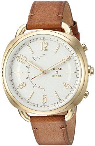 Smartwatch Fossil Q Hybrid da donna, con cinturino sottile in cuoio, codice: FTW1201