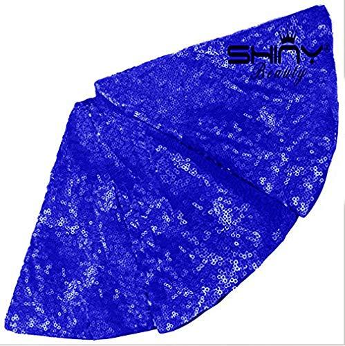 ShinyBeauty Baum Rock Schmuck Dekoration 180cm Königsblau Pailletten Weihnachtsbaum Rock,72-Inch