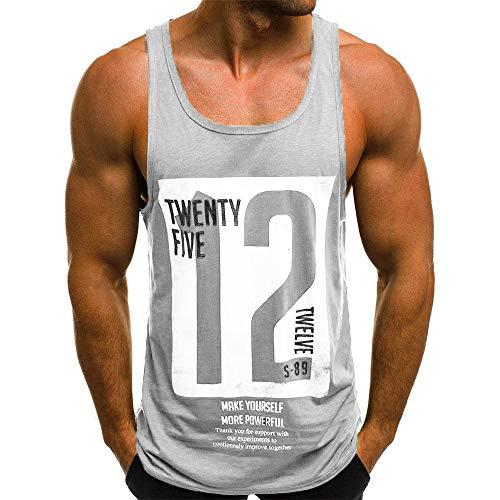 Beonzale Männer Beiläufiger Dünner Buchstabe Der Art- Und Weisemänner Druckte Ärmelloses Trägershirt-T-Shirt Tops Für Herren Sweatshirt (Men T-shirt Boss Junior)