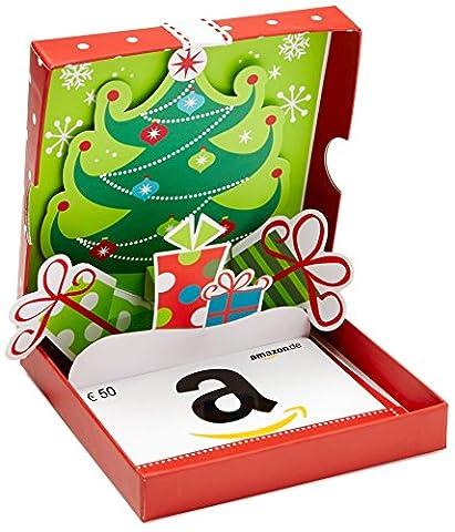 Amazon.de Geschenkgutschein in Geschenkbox - 50 EUR (Rot mit