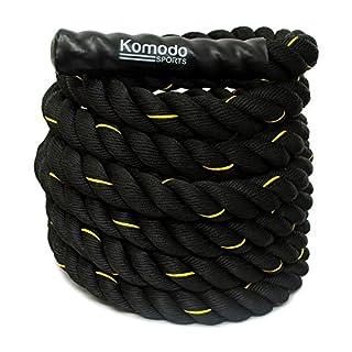 KOMODO Battle Rope Power Training 9M/38mm Upper Body Strength Training Workout Battling Exercise Gym Fitness