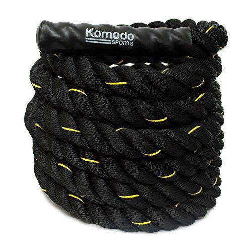 Komodo-Battle-Rope-Power-Training-9M38mm-Upper-Body-Strength-Training-Workout-Battling-Exercise-Gym-Fitness