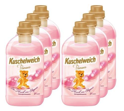 6er Vorratspack Kuschelweich Weichspüler Premium Eleganz 4500 ml