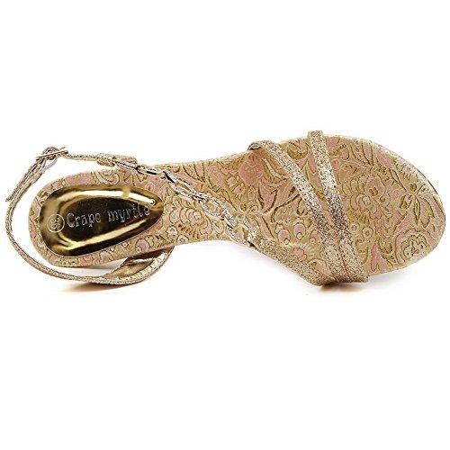 1TO9 , Sandales pour femme Doré