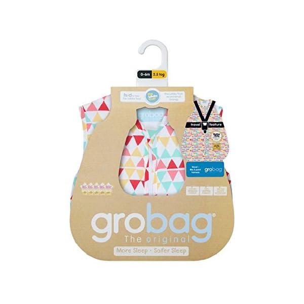GRO AAA 5580Rouge Zig Zag Travel Sacos de dormir grobag, 1.0tog, 3–6Years, color rosa