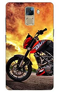 iessential bike Designer Printed Back Case Cover for Huawei Honor 7