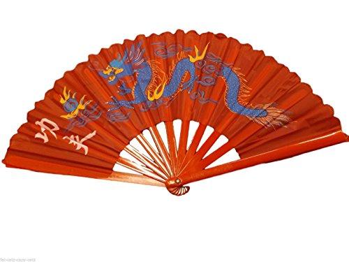 Fächer Großer Ying Yang Holz & Baumwolle Fächer Chinesisch Japanisch Orientalisch Burleske Tanzen Geisha Verkleidung Dekorativer Handfächer - angeboten von London by Fat-Catz