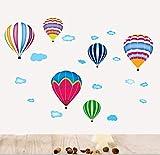 hallobo Sticker mural 6Montgolfière Ballons Sticker mural Livraison XL Sticker Chambre Fille Enfants Bébé en Allemagne