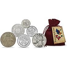 Monedas de PLATA - 6 piezas únicas provenientes de los 6 Continentes