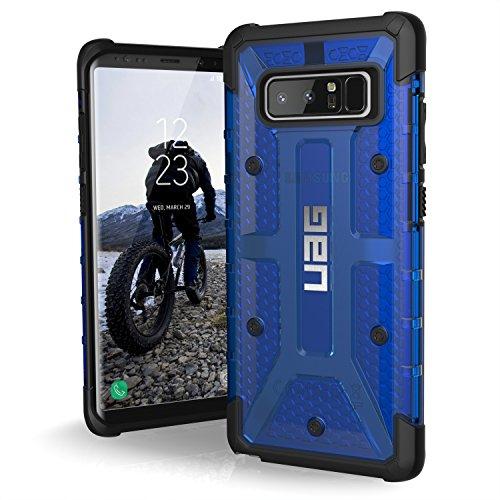 Urban Armor Gear Plasma Schutzhülle nach US-Militärstandard für Samsung Galaxy Note 8 - transparent (blau) [Verstärkte Ecken | Sturzfest | Antistatisch | Vergrößerte Tasten] - NOTE8-L-CB