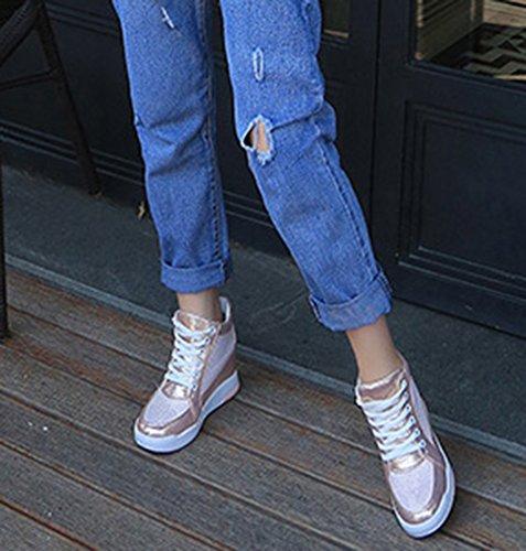 Wealsex sneaker damen plateau freizeitschuhe Pink