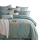 Four-piece set of american embroidery cotton european bedding pure quilt cover sheet-A 220x240cm(87x94inch)