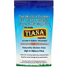 TIANA Fair Trade Organics 100% Crudo Orgánico Coco Harina para hornear Sin Gluten - 500