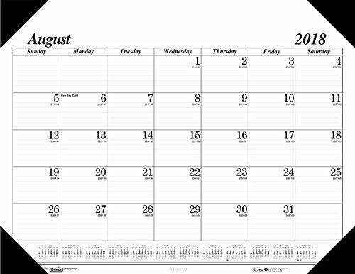 House of Doolittle 2018–2019Monatliche Schreibtischunterlage Kalender, Akademischer, 17Monat, 55,9x 43,2cm,...