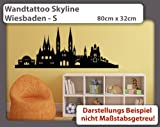 Wandtattoo Skyline Wiesbaden - Größe: S - 80cm x 32m - 23 mögliche Farben