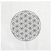 JOVIVI Gedruckte Blume des Lebens Heilige Geometrie Kristall Grid Altar Tuch Yoga Tuch 35 x 35cm preisvergleich bei billige-tabletten.eu