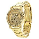 XiYuanShangMao Rhinestones-Spitzenmarke Tiger-Armbanduhren Hoher Luxus Sehen Sie Damenuhren HEI?e der HEI?en Art und Weise zu Gold