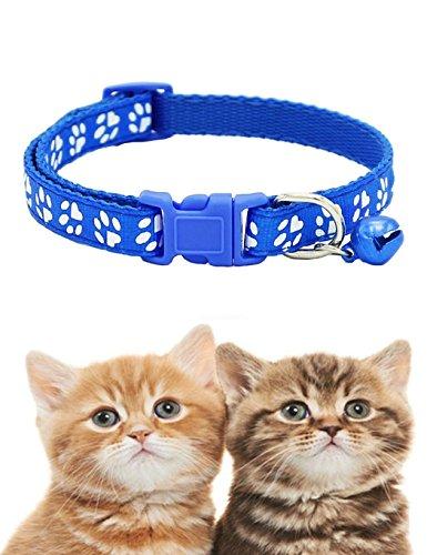 Befied Haustier Halsband mit Glöckchen Katze Katzenhalsband Kleinhundehalsband Sicherheit Verstellbare Nylon