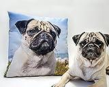 Fotokissen mit eigenem Foto, vollflächiger Druck auf beiden Seiten, Kissengröße 40 x 40 cm mit Kissenfüllung