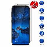 Protection écran Samsung Galaxy S9 Plus, MaxKu 2-pack Film de Protection d'écran en Verre Trempé Ultra Résistant Dureté 9H Tempered Glass Screen Protector pour Samsung Galaxy S9 Plus