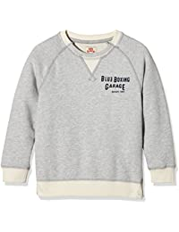 Scotch Shrunk Jungen Sweatshirt Grey Mel. O.D. Sweat with Spray