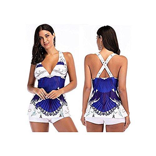DAY.LIN Bikini Teilen Bademode Damen Frauen Bikini Sets Schwimmen Kostüme Zweiteilige Badeanzüge Bademode Strand Anzug (EU40/M)