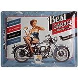 Nostalgic-Art 23142 Best Garage - Best Garage - Blue, Blechschild 30x40 cm