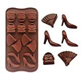 Heels Fans Bags Shape Silicone Chocolate...