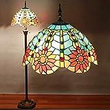 Gweat Tiffany 16 Zoll Stehlampen Schlafzimmer Wohnzimmer im europäischen Stil Den romantischen europäischen Stil Garten Vintage Couchtisch Lampe Stehlampe