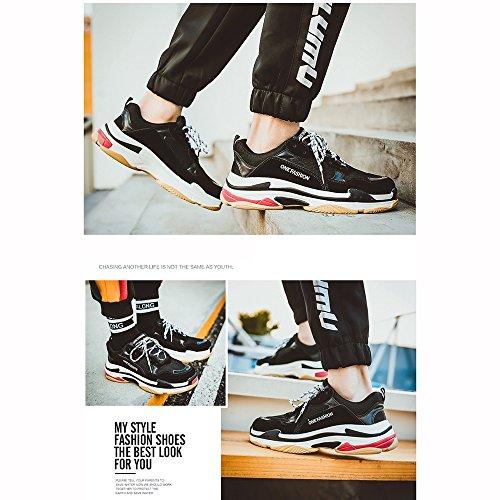 XIAOLIN Ultra Fire Shoes Male Lovers Dad Shoes Inverno Street Shoot Scarpe sportive ( Colore : Yellowgreen , dimensioni : EU/41/UK7.5-8/CN42 ) Blackwhite