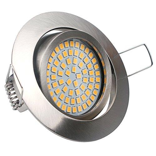 LED Flach Einbauleuchten,Warmweiß 3.5W 350LM 230V LED Einbauspots Einbaustrahler Schwenkbar im Wohnzimmer, Schlafzimmer, Esszimmer, Ausstellungsraum