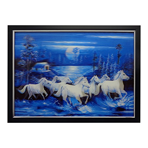 Art N Hub Fengshui Seven Horse 3d Painting With Framing L 40