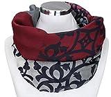 PiriModa XXL Damen Schal leichter Schlauchschal Viele Farben (Grau/Bordeaux/Schwarz/Natur)