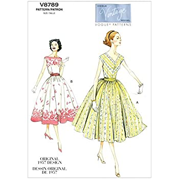 10 Vogue Schnittmuster 8379/Damen Kleid Gr/ö/ßen: 8 14 12