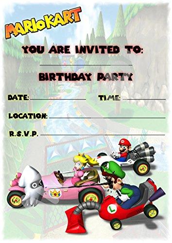 urtstagseinladungen–Hochformatiges Design–Partyzubehör (12Stück A5-Einladungen) WITHOUT Envelopes ()