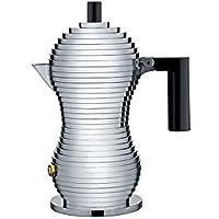 Alessi Mdl02/1 B Pulcina Cafetière Espresso en Fonte D'aluminium, Poignée et Pommeau en Pa, Noir, 1 Tasse