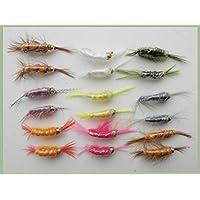 18 Shrimp Trout Flies Trout Fishing Flies, Size 10's and 12's