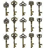 Schlüssel-Flaschenöffner - sortiert Vintage Skelett Schlüssel, Hochzeit Partyzubehör (25 Stück, bronze)