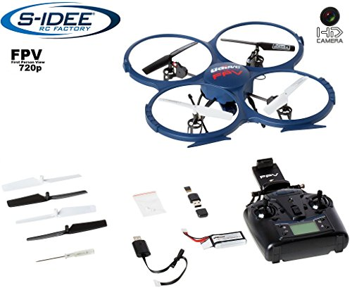 s-idee® 01607 Quadrocopter Udi U818A Wifi HD KAMERA WIFI 4.5 Kanal 2.4 Ghz Drohne mit Gyroscope Technik DROHNE MIT WIFI FPV Drone HD Kamera One Key Return Coming Home Funktion