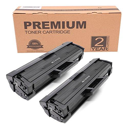 Itari Compatible Cartouches de toner Remplacement pour Samsung MLT-D101S pour XML-2165W ML-2165 ML-2160 ML-2168 ML-2162 ML-2161 ML-2164 ML-2164W SCX-3400 SCX-3400FW SCX-3401 SCX-3405 SCX-3405F SCX-3405FW SCX-3405W SF-760 SF-760P Imprimante (2 Pack, Noir)