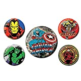 Ensemble de 5 insignes Authentiques Captain America de Marvel Comics, Falcon Hulk Iron Man